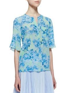 Nanette Lepore Cove Sassy Floral-Print Top
