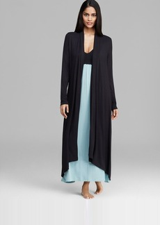 Donna Karan Sleepwear Liquid Jersey Knit Long Wrap