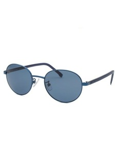 Lacoste Women's Round Blue Sunglasses