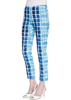 Lafayette 148 New York Stanton Printed Straight-Leg Pants