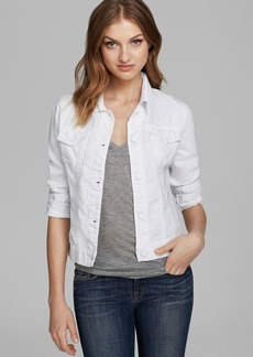 J Brand Jacket - 403 Slim Fit Denim in Pure White