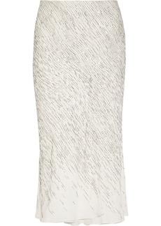 Jason Wu Embellished silk-chiffon skirt