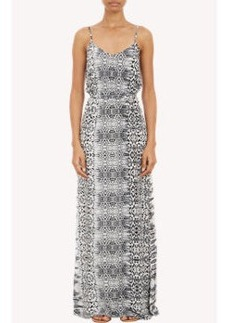 Twelfth Street by Cynthia Vincent Abstract Leopard-Print Maxi Dress