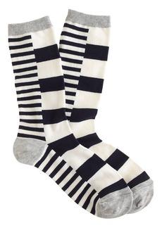Block-stripe trouser socks