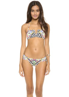 Mara Hoffman Cosmic Fountain Bandeau Bikini Top