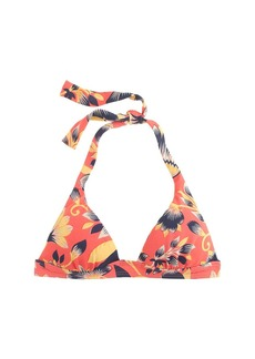 Hibiscus floral sculpted halter top
