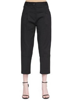 Robert Rodriguez Cropped Pleated Twill Pants