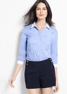 Embellished Perfect 3/4 Sleeve Shirt
