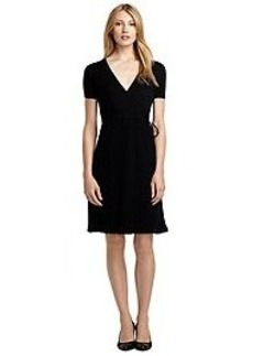Short-Sleeve Merino Sweater Dress