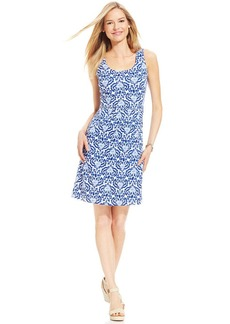 Charter Club Sleeveless Printed Dress