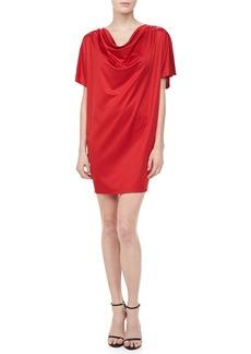 Michael Kors Silk Jersey Draped Dress, Crimson
