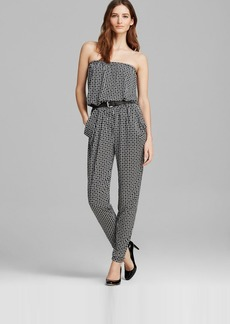 MICHAEL Michael Kors Strapless Belted Jumpsuit