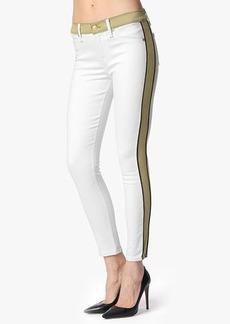 "Fashion Pieced Skinny in White and Khaki (28"" Inseam)"