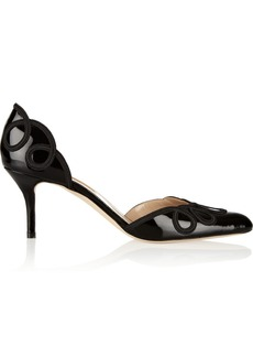 Oscar de la Renta Brenda patent-leather pumps