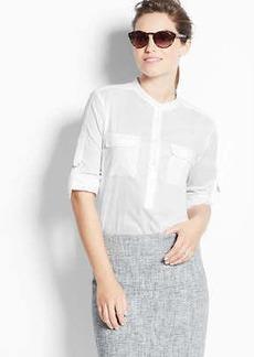 Tab Sleeve Cotton Shirt