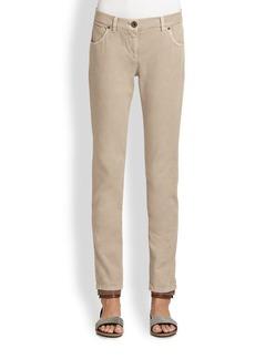 Brunello Cucinelli Garment Washed Five-Pocket Jeans