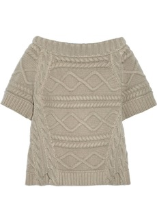 Burberry Prorsum Cable-knit wool sweater