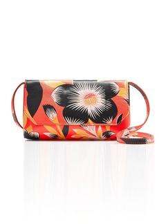 Hibiscus print crossbody bag