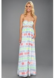 Mara Hoffman Leis Cotton Voile Lattice Bustier Maxi Dress