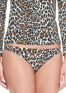 Tory Burch Reva Leopard-Print Bikini Bottom