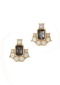 Circle stone geometry earrings