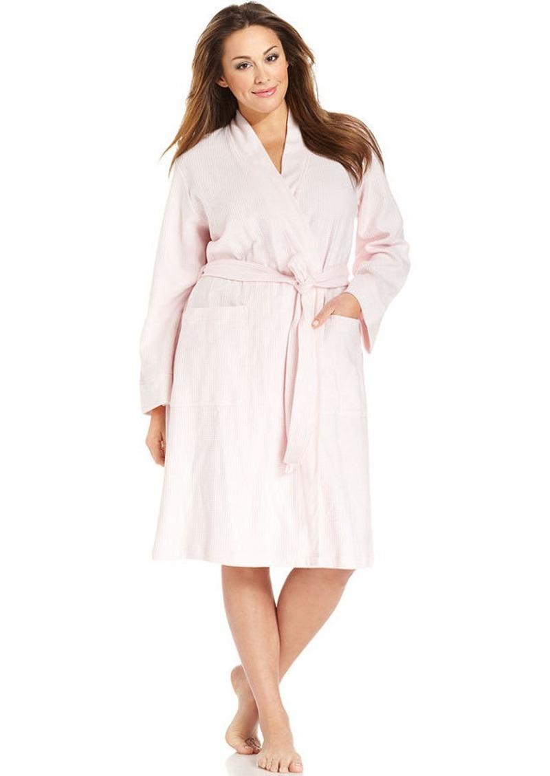 Charter Club Plus Size Waffle Knit Kimono Robe