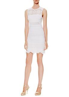 Roberto Cavalli Zigzag-Hem Textured-Knit Dress