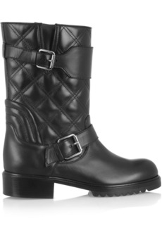 Marc Jacobs Quilted leather biker boots