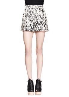 Proenza Schouler Branch-Print High-Waist Shorts