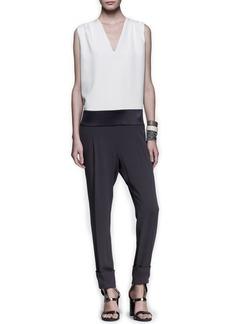 Brunello Cucinelli Tricolor Drop-Waist Jumpsuit