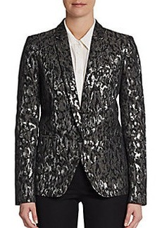 Michael Kors Metallic Brocade Blazer