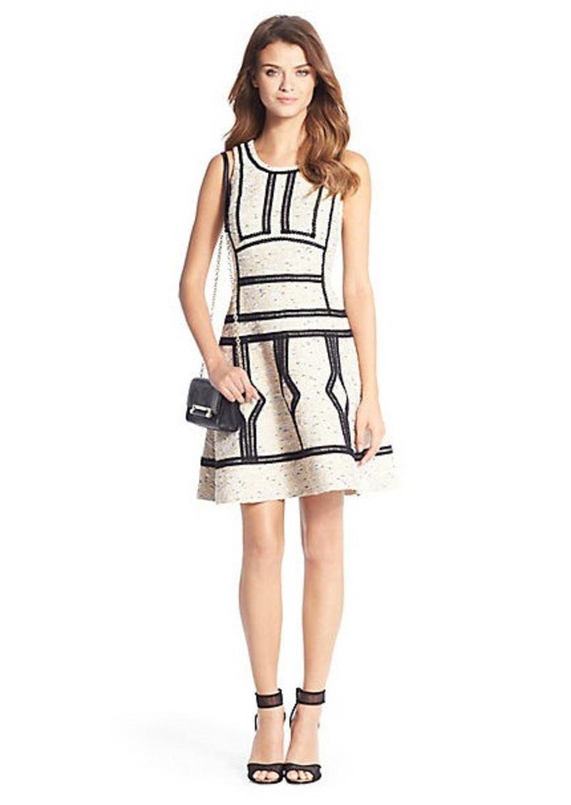 Margot Trim Detail Tweed Dress