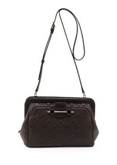 JASON WU Quilted Leather Crossbody Bag, Brown
