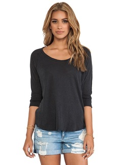 James Perse Inside Out Raglan Tee in Charcoal