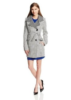Kenneth Cole New York Women's Polka-Dot Trench Coat