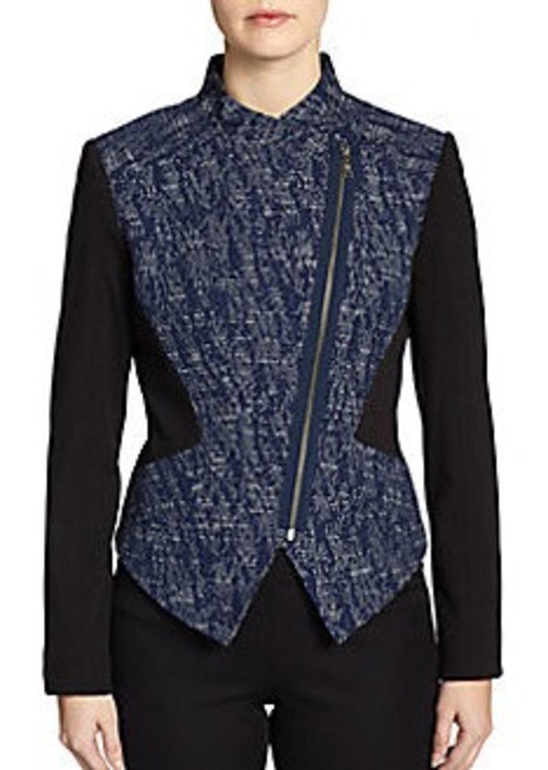 Tahari Viola Asymmetrical Zip-Front Jacket