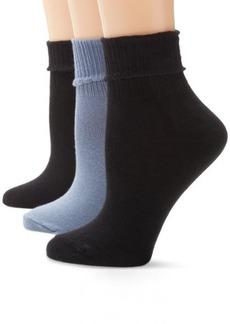 HUE Women's Huetopia Turn Cuff Sock