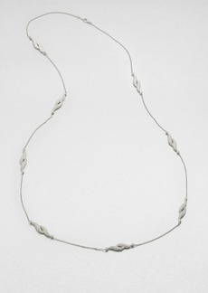 Adriana Orsini Pave Feather Station Necklace