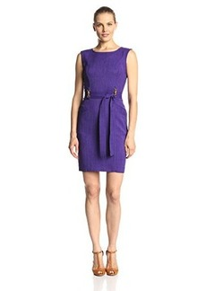 Ellen Tracy Women's Sleeveless Front-Tie Dress