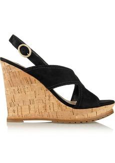 Diane von Furstenberg Sylvia suede wedge sandals