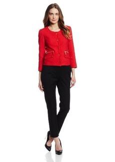 Jones New York Women's Long Sleeve Textured Jacket