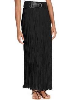 Style&co. Petite Belted Textured Pull-On Maxi Skirt