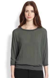 James Perse Dolman-Sleeved Jersey Sweatshirt