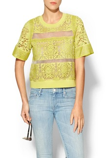 Rebecca Taylor Short Sleeve Lace Top