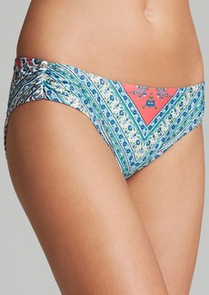 Lucky Brand Francesca Shirred Hipster Bikini Bottom