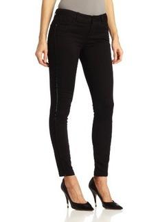 Kensie Jeans Women's Twill Beaded Tuxedo Ankle Biter Jean