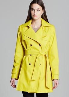 DKNY Abby Hooded Trench Coat