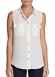 Calvin Klein Ruched Equipment Shirt