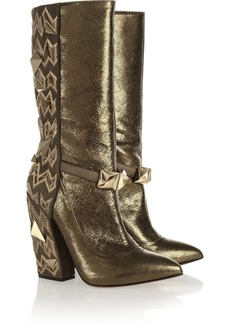 Missoni Studded textured-leather boots