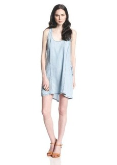 Michael Stars Women's Vintage Chambray Racerback Dress with Pockets